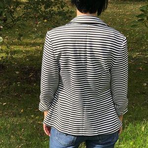 Black and White striped blazer size Small